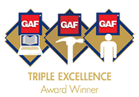 GAF Triple Award logo